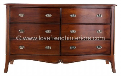 Paris Mahogany Wide Chest